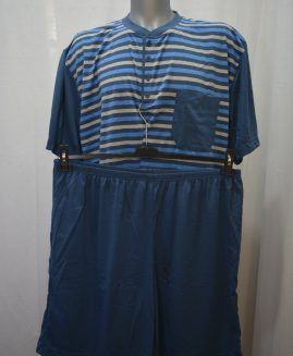 Pijama bumbac de vara cu pantalon scurt 4 XL  ALAMICUTZU
