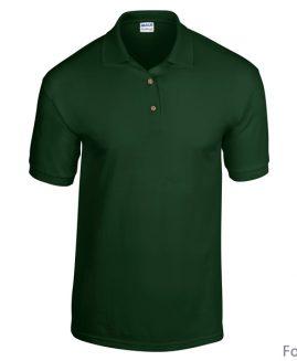 Tricou bumbac 100% pique polo Verde Inchis 4 XL GILDAN USA