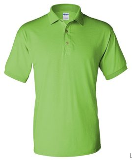 Tricou bumbac 100% pique polo Verde Deschis 4 XL GILDAN USA
