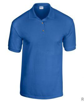 Tricou bumbac 100% pique  polo Albastru 4 XL GILDAN USA
