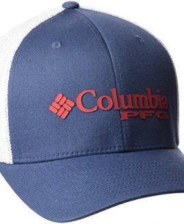 Columbia PFG Mesh Ball Cap, Dark Mountain Sunset Red L - XL UNISEX