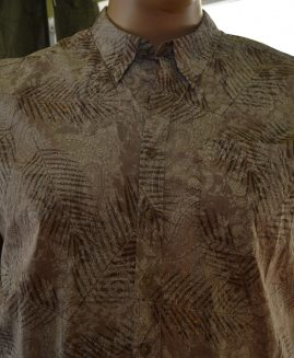 Harbor Bay® Tropical Batik Print Sport Shirt 5 XL