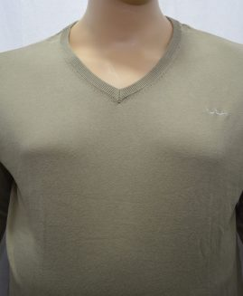 Men's Pierre Cardin Pullover V Neck Khaki 8XL