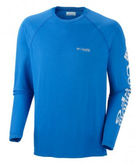 Terminal Tackle LS shirt in Vivid Blue by Columbia Sportswear