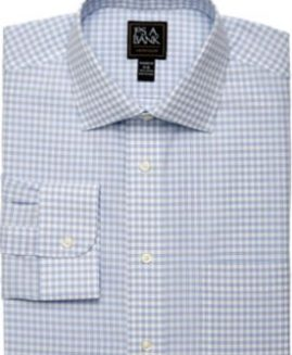 Traveler Collection Slim Fit Grid Dress Shirt - Big & Tall JOS A BANK