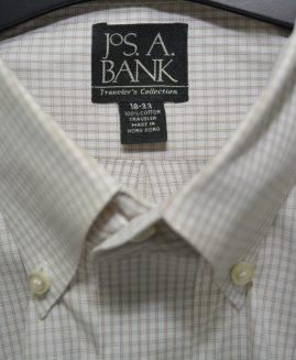 Traveler Collection Slim Fit Grid Dress Shirt – Big & Tall JOS A BANK