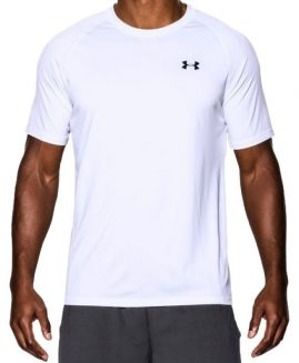 White Under Armour Heatgear Tech Tee Shirt Size XL