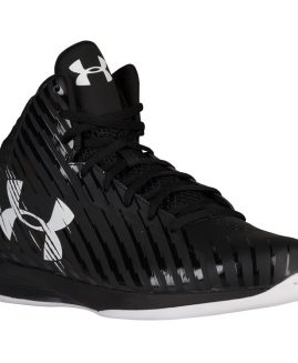 Under Armour Jet Mens Basketball Shoes Leather Black/White Size 47,5