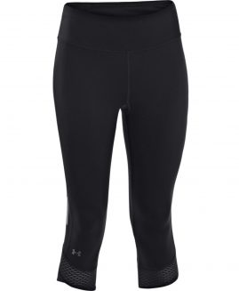 Under Armour Women's Fly-By Compression Capri Black Size LG