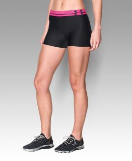 UNDER ARMOUR Heatgear  Compression Black/Pink Short Size LG