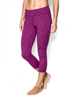 Under Armour Skinny Studio  Compression  Capri Purple Size LG