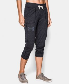 Under Armour Women's Capri Pant's Charged Cotton Black Size MD