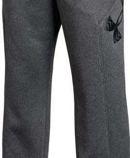 Under Armour Storm 1 Fleece Big Logo Junior Trackpants - Grey Size YLG