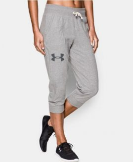 Under Armour Women's Capri Pant's Charged Cotton Grey Size MD