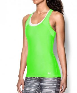 Under Armour Women's HeatGear  Tank Green Size LG