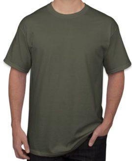 Tricou bumbac mineca scurta Army 4 XL  GILDAN USA