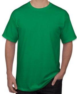 Tricou bumbac mineca scurta Verde  3 XL GILDAN USA