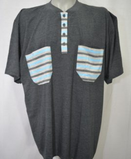 Pijama bumbac de vara in 3 nasturi cu pantalon scurt 5 XL ALAMICUTZU