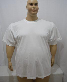 Tricou marime mare, bumbac mineca scurta, 4 xl american, alb,  ALAMICUTZU