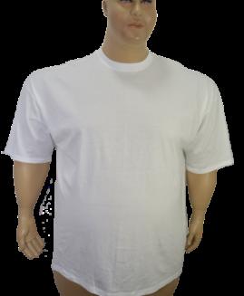 Tricou marime mare, bumbac mineca scurta, 4 xl american, alb,  ALAMICUTZU talie 180 cm