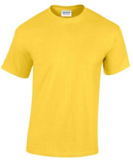 Tricou bumbac mineca scurta,  xxxxxl american,  GILDAN galben - talie 180 cm