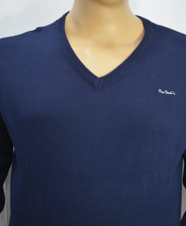 Men's Pierre Cardin Pullover V Neck Navy 8 XL