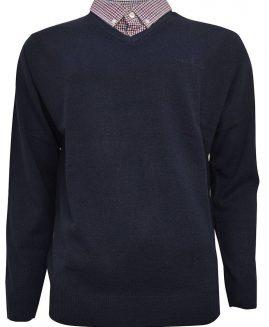 Pierre Cardin Pullover, marime foarte mare, V Neck Black 8 XL
