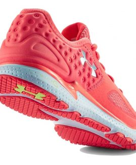 Under Armour UA Micro G Mantis II After Burn/White/Metallic Silver Running Shoes for Women Size 40 Eur
