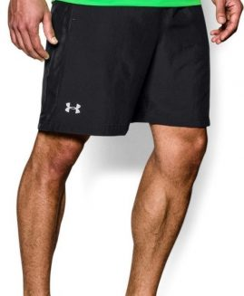 "Under Armour Mens Launch 7"" Shorts Black Size SM"