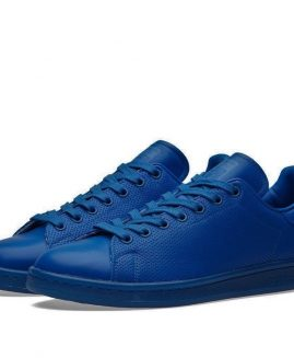 New Mens Adidas Originals Stan Smith Leather Shoes Blue Blue S80246 Size 41 Eur