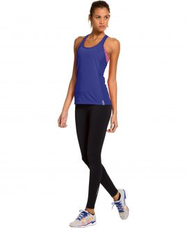 Under Armour Women's Fly-By Stretch Mesh Tank Purple Size LG