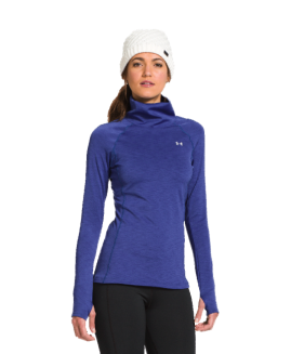 Under Armour® WOMEN'S COLDGEAR COZY NECK Blue Size  L G