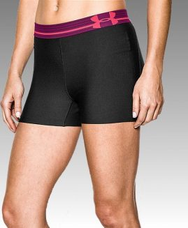 UNDER ARMOUR Heatgear Alpha Compression Black/Pink Short Size LG