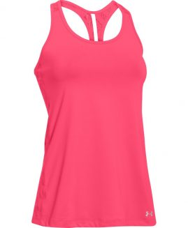 Under Armour HeatGear Vent Tank Running Coral Size LG