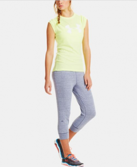 Under Armour Women's Charged Cotton Undeniable Capri Grey Size LG