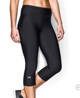 Under Armour Ladies Heatgear  Compression Capri Black Size LG
