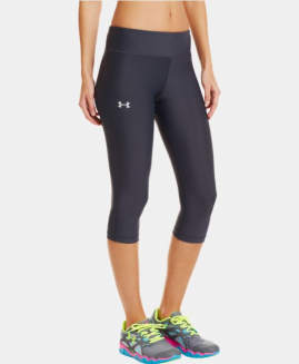 Under Armour Heat Gear Compression Tight Capri  Pant's Black Size LG