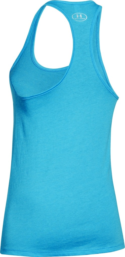 25ed8a5e03 Under Armour Charged Cotton Tri-Blend Tank Island Blue White Size LG ...