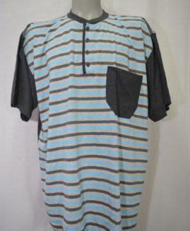 Pijama bumbac de vara in 3 nasturi cu pantalon scurt 3 XL ALAMICUTZU