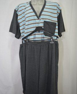 Pijama bumbac in anchior cu pantalon scurt 4 XL ALAMICUTZU