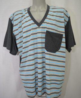 Pijama bumbac in anchior cu pantalon scurt 3 XL ALAMICUTZU