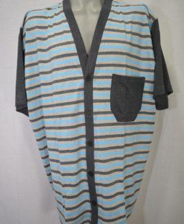 Pijama bumbac cu nasturi de sus pina jos si pantalon scurt 3 XL ALAMICUTZU