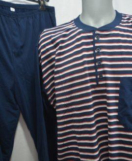 Pijama bumbac mineca lunga cu 3 nasturi 3 XL ALAMICUTZU