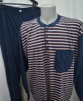 Pijama bumbac mineca lunga cu 3 nasturi 4 XL ALAMICUTZU