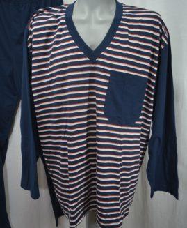 Pijama bumbac mineca lunga in anchior 4 XL  ALAMICUTZU