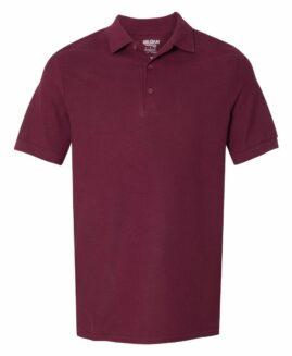 Tricou pique, polo bumbac premium, Visiniu 2 XL  GILDAN USA
