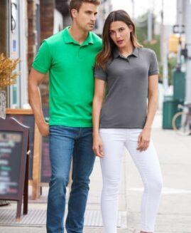 Tricou unisex pique polo, bumbac premium, xxl american, GILDAN USA verde irish