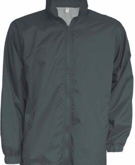 Geaca Windbreaker unisex interior tricot  Gri Inchis 3 XL  KARIBAN