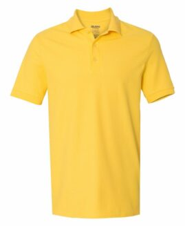 Tricou pique polo bumbac premium Galben Deschis 2 XL  GILDAN USA