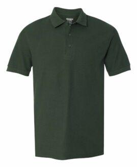Tricou pique polo bumbac mineca scurta Verde inchis  2 XL GILDAN USA